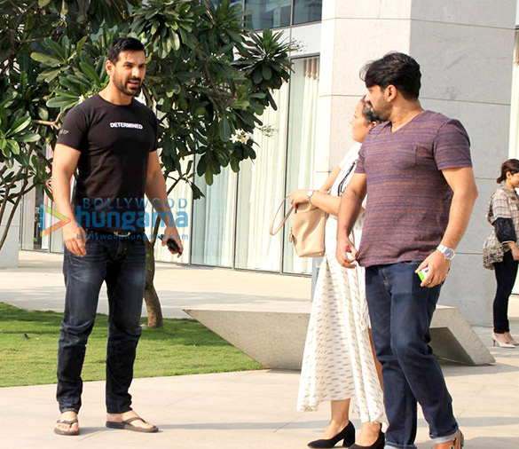 John Abraham spotted at BKC