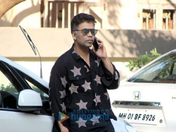 Karan Johar spotted at Sidharth Malhotra's house