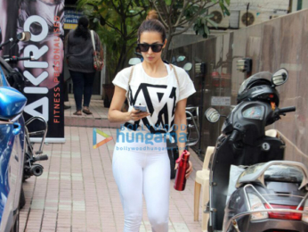 Malaika Arora snapped post her gym session