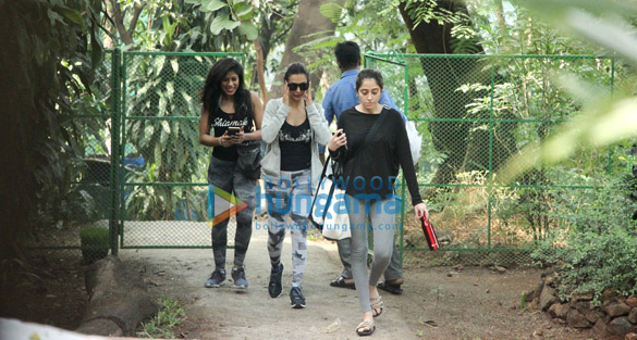 Malaika Arora spotted at dance class in Bandra