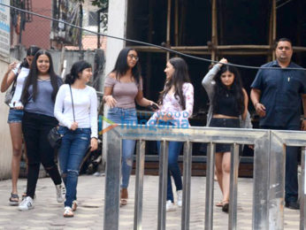 Nysa Devgn spotted with friends in Bandra