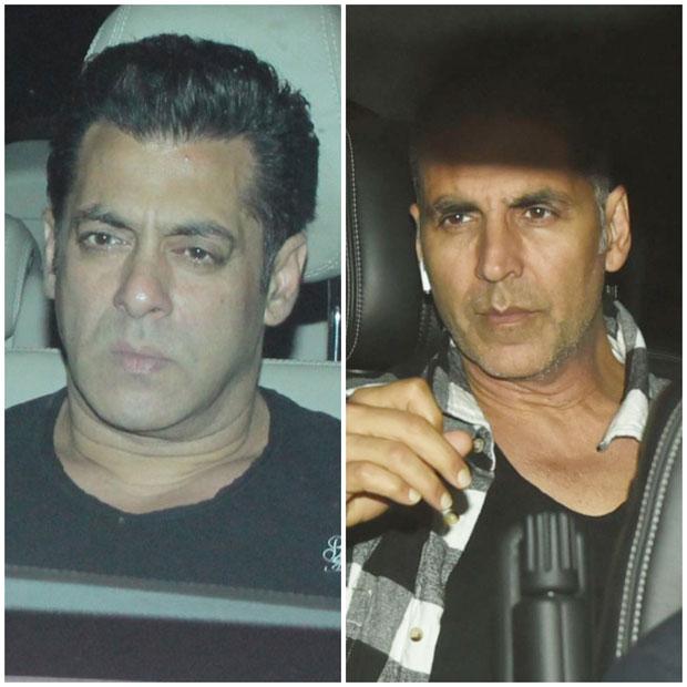 PHOTOS Putting rumours to rest, Akshay Kumar attends Salman Khan's screening of Tiger Zinda Hai (1)