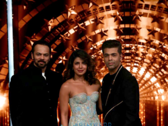 Priyanka Chopra, Karan Johar and Rohit Shetty on the sets of India's Next Superstars