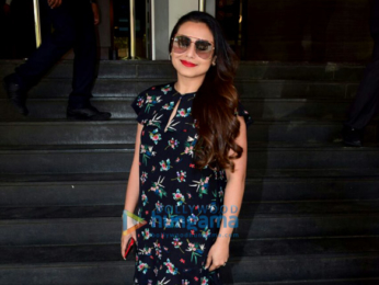 Rani Mukerji arrives for the trailer launch of 'Hichki'