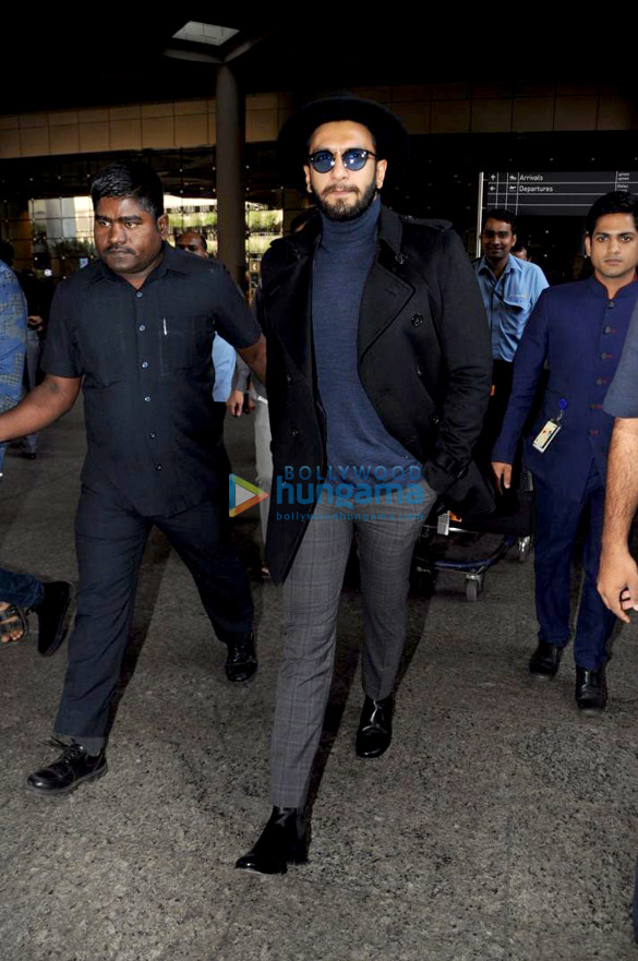 Ranveer Singh, Richa Chadda and Ayushmann Khurrana snapped at the airport
