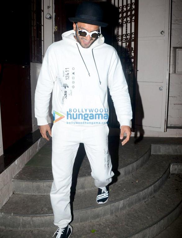 Ranveer Singh snapped at a recording studio