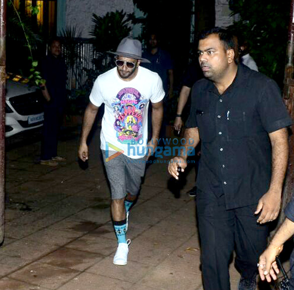 Ranveer Singh snapped in a casual look