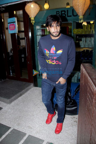 Ranveer Singh spotted outside BBLUNT