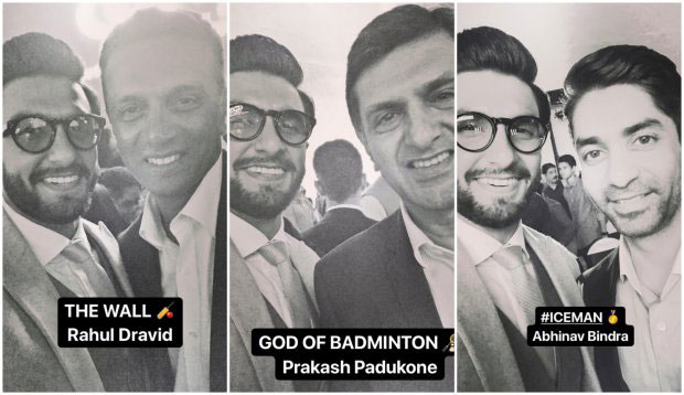 Ranveer Singh bonds with Deepika Padukone's father