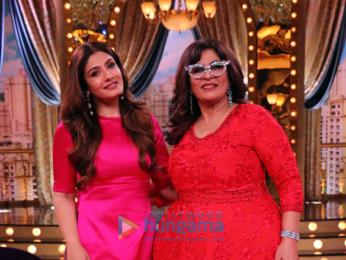 Raveena Tandon snapped on the sets of 'Aunty Boli Lagao Boli'