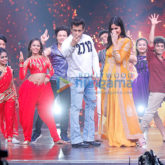 Salman Khan and Katrina Kaif on the sets of 'Dance India Dance'