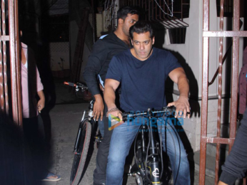 Salman Khan spotted on his Being Human cycle