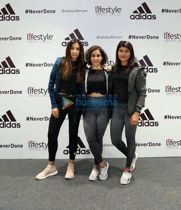 Sanya Malhotra in Gurgaon for adidas