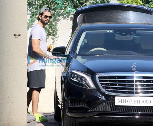 Shahid Kapoor and Sooraj Pancholi snapped at the gym