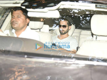Shahid Kapoor snapped post dubbing session at Sunny Super Sound in Juhu