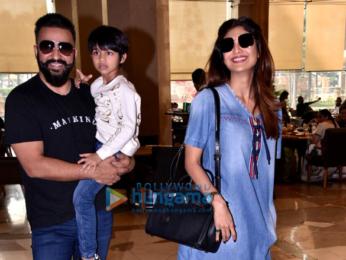 Shilpa Shetty and Raj Kundra snapped at JW Marriot