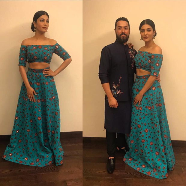 Spotted Shruti Haasan Kamal Haasan and beau Michael Corsale