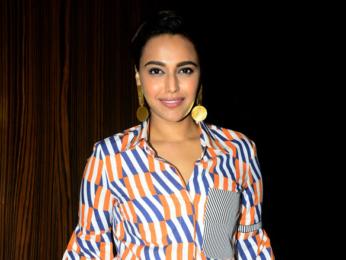 Vidya Balan and Bhumi Pednekar snapped on sets of Rajeev Masand's show