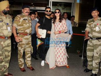 Virat Kohli and Anushka Sharma snapped at the airport