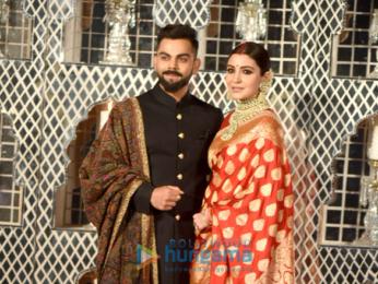 Virat Kohli and Anushka Sharma snapped at their Delhi wedding reception