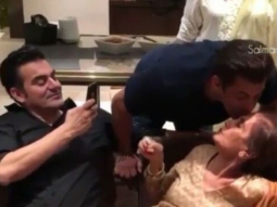 WATCH Salman Khan gives a sweet kiss to mom Salma Khan on her 75th birthday