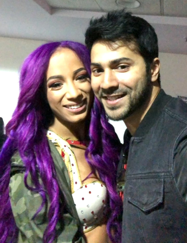Watch varun dhawan meets wwe superstars jinder mahal sasha banks watch varun dhawan meets wwe superstars jindar mahar m4hsunfo
