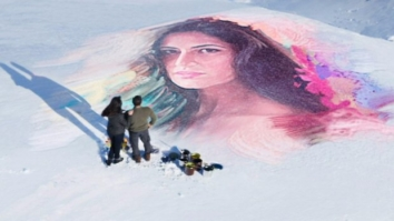 WOW! Salman Khan draws a portrait of Katrina Kaif on a frozen lake for Tiger's love song1