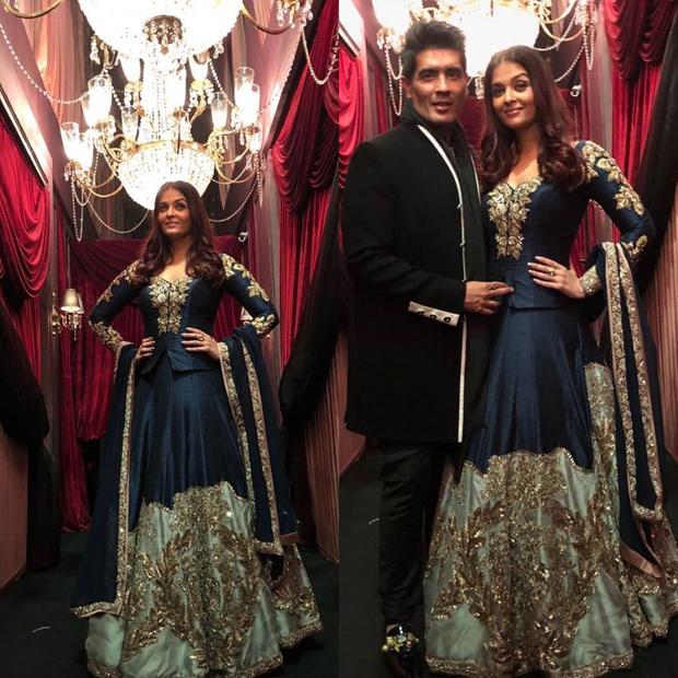 Aishwarya Rai Bachchan in Manish Malhotra ensemble at HT Most Stylish Awards 2018