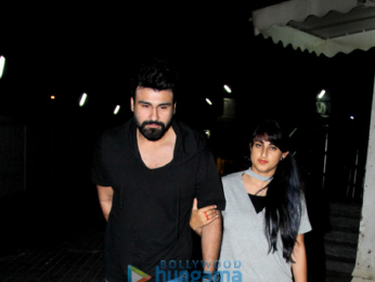 Aarya Babbar snapped with his wife at Juhu PVR
