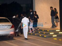 Aishwarya Rai Bachchan, Abhishek Bachchan out with Aradhya for dinner