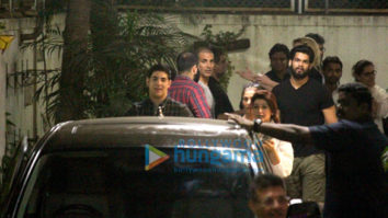 Akshay Kumar, Twinkle Khanna and R. Balki spotted at Sunny Super Sound in Juhu