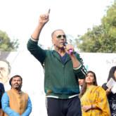 Akshay Kumar snapped promoting his film 'Pad Man' at Delhi University