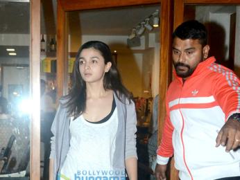 Alia Bhatt snapped at Sequel Cafe in Bandra