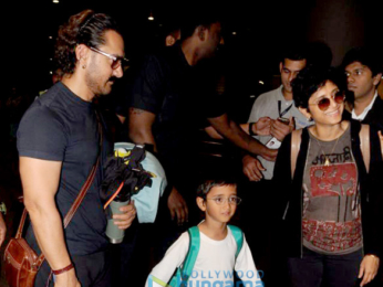 Aamir Khan and family snapped at the airport returning from Goa