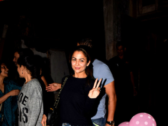 Amrita Arora snapped with her husband in Bandra