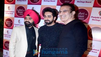 Ayushmann Khurrana, Sonu Sood and Jeetendra at 'Lohri Di Raat 2018'