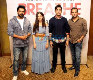 Breathe star cast snapped at Sofitel Hotel in BKC