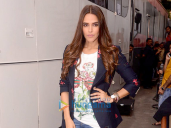 Deepika Padukone, Anisha Padukone and Neha Dhupia on the sets of VOGUE BFFs