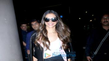 Deepika Padukone, Huma Qureshi spotted at the airport