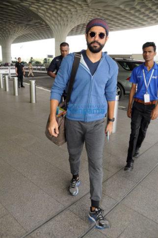 Farhan Akhtar, Zareen Khan and Kackky Bhagnani snapped at the airport