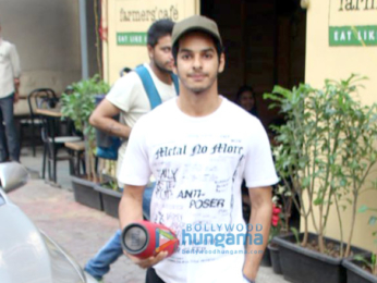 Janhvi Kapoor and Ishaan Khatter spotted at Farmers Cafe