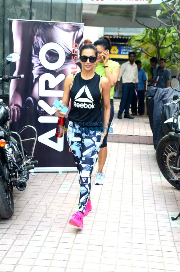 Malaika Aora snapped at the gym