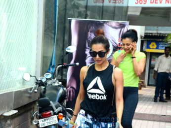 Malaika Aora snapped at the gym