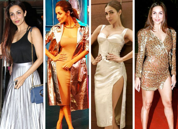 Malaika Arora has a thing or two for metallic, bling and all things shimmery! feature