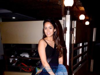 Mira Rajput snapped at Bandra skin clinic