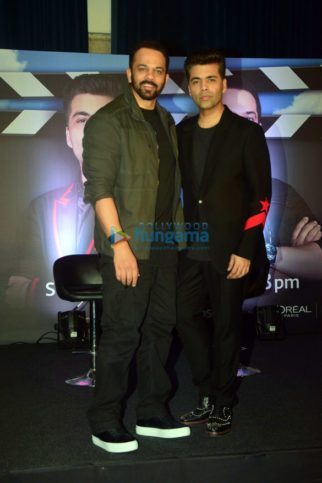 Press conference of India's Next Superstars with judges Karan Johar and Rohit Shetty