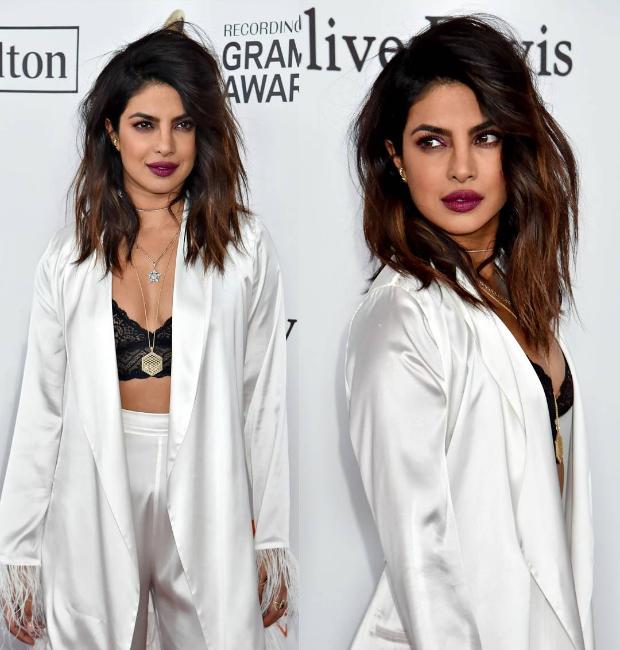 Priyanka Chopra at Clive Davis' Pre-Grammy 2018 party