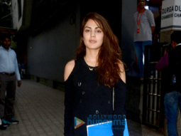 Rhea Chakraborty snapped at the Tips office in Khar