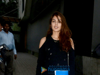 Rhea Chakraborty snapped at the Tips office in Khar