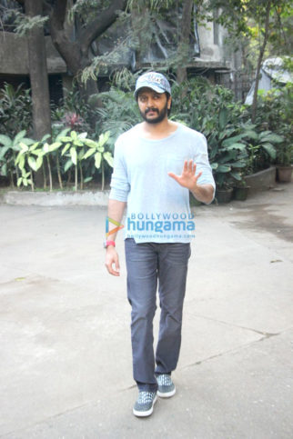 Riteish Deshmukh and Aditya Roy Kapur attend a meeting in Bandra